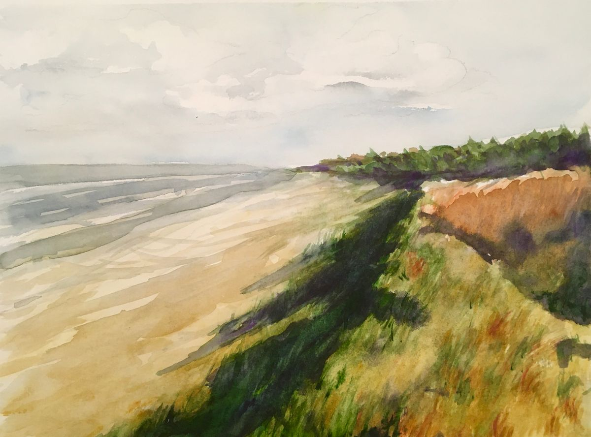 Strand in Prerow, 20x30cm